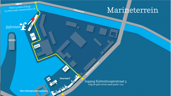 kaart ijsfontein op marineterrein