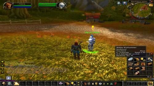 World of Warcraft beginscherm